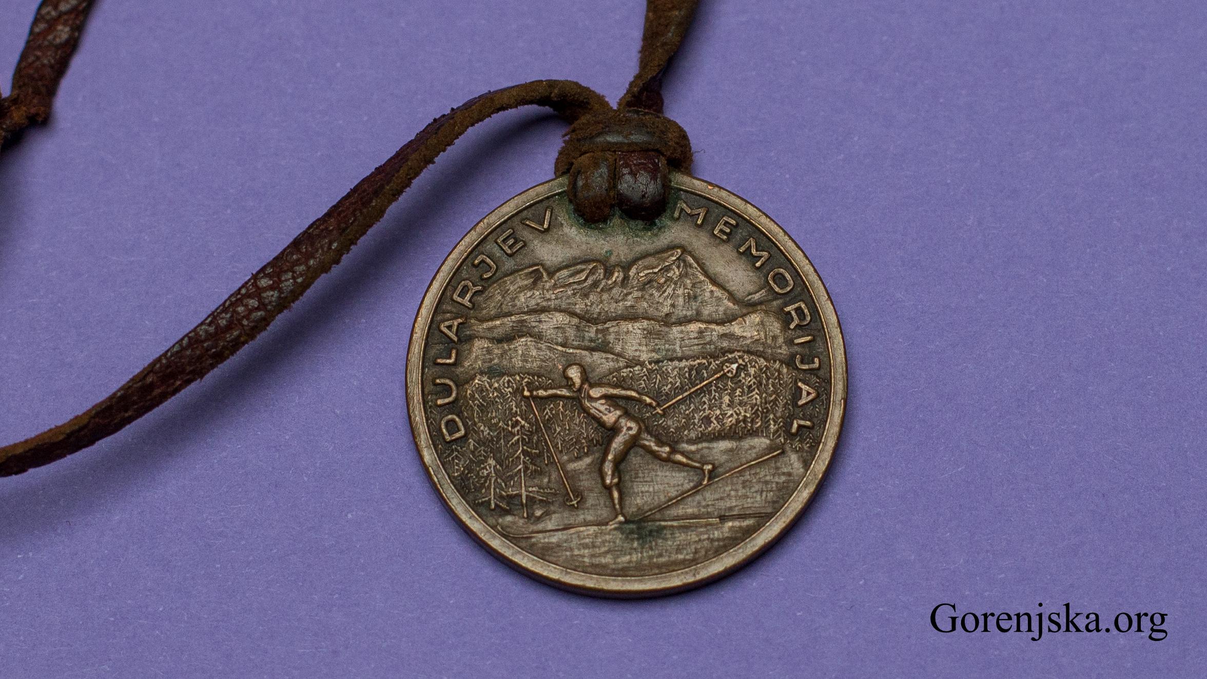Avers medalje Dularjev memorijal - Lipanca 1950 - ŠD Krim